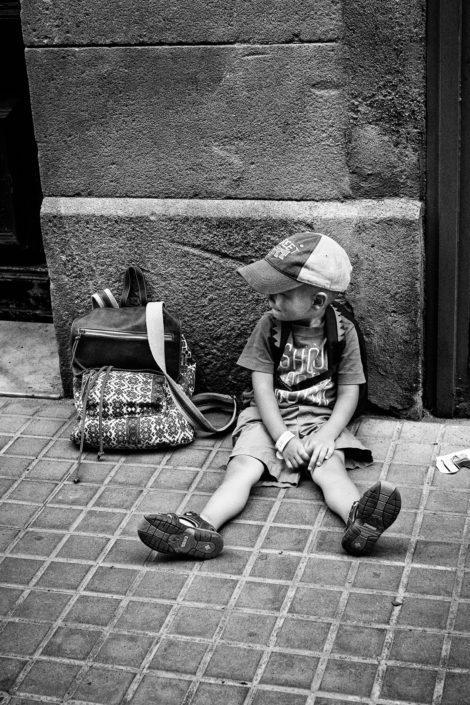 Spain, Barcelona, Street, Kid