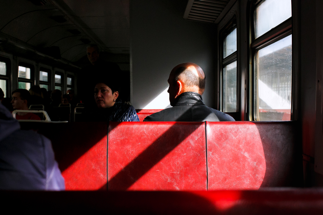 The Light in a City train highlights the part of passenger head